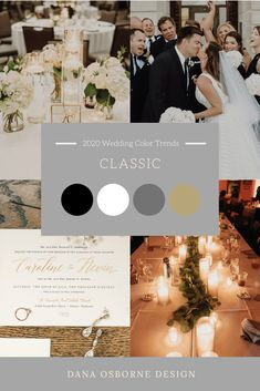 Wedding Color Trends of Dark and Moody wedding, Dusty Rose/Mauve wedding, Burgundy & Navy Wedding, Classic Black & White Weddings are leading the way. Classic Wedding Themes, Black And White Wedding Theme, Classic Weddings, Wedding Ideas, Wedding Planning, Black Tux Wedding, Mauve Wedding, Dream Wedding, Champagne Wedding Colors Scheme