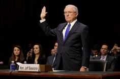 U.S. Attorney General Jeff Sessions refused on Wednesday to answer lawmakers' questions about his discussions with President Donald Trump on Russia and denied lying to Congress about his own contacts with Russians during the 2016 election campaign.