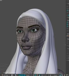 A realistic female model. The model will be rigged for animation soon.
