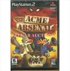 Looney Tunes Acme Arsenal Play Station 2 Game disc PS2 PS/2 NTSC U/C New
