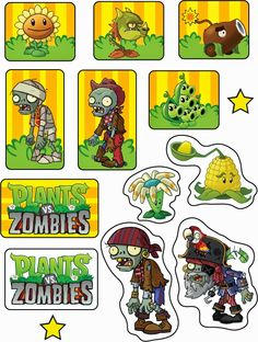 Plants vs Zombies: Free Printable Cupcake Toppers and Wrappers. Plants Vs Zombies, Zombies Vs, Zombie Birthday Parties, Zombie Party, 8th Birthday, Birthday Ideas, Plantas Versus Zombies, P Vs Z, Zombie Cupcakes