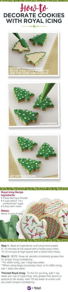 How to decorate cookies with royal icing More
