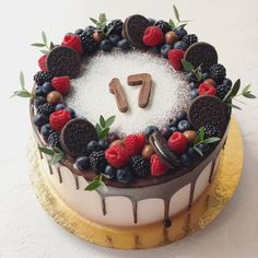 Fruit Birthday Cake, 60th Birthday Cakes, Sweet 16 Birthday, 21st Birthday, Cake & Co, Birthday Cake Decorating, Just Cakes, Cake Decorations, Food And Drink