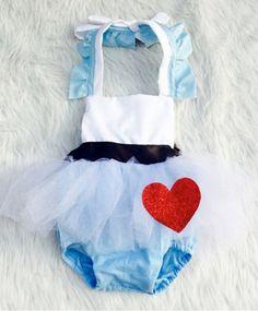 Onederland inspirado tutu de mameluco azul por EverAfterFairytales