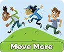 USDA Choose MyPlate.gov  Kids Move More button