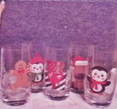 It's a great time to talk about water glass Christmas crafts. Create a personal experience this holiday season for you, your family, and friends without much additional effort on your part.This is a very easy progect.  For example, here is a fun  glass charm idea that is easy to create: you are going to need water glasses and glass stickers, that`s all,  nice and easy Christmas Glasses, Christmas Crafts, Christmas Decorations, Water Glass, Facebook Sign Up, Lava Lamp, Effort, Seasons, Stickers
