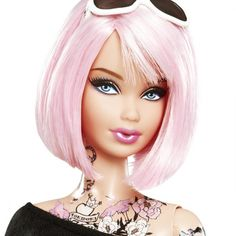 Meet Tokidoki Barbie—she's got a pink bob, funky clothes, a neck full of tattoos, and a whole lot of haters. The doll, a collaboration between Mattel and designer Simone Legno, has some parents worried that the doll's prominent tiger and flower neck tattoos set a bad example for kids. - parenting.com