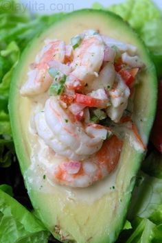 Shrimp stuffed avocado.
