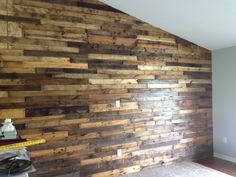 Pallet board wall in my living room