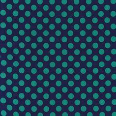 Michael Miller cx1492 ta dot basics polka dots ovals circles midnite midnight twilight blue navy