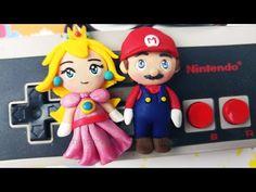 DIY Mario & Peach Chibi Figurines Polymer Clay