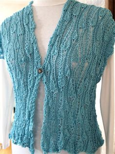 VineYard Vest PDF Hand Knitting Pattern by KnitChicGrace on Etsy, $4.50