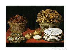 Dulces Y Frutos Secos Sobre Una Mesa Giclee Print by Tomás Yepes at AllPosters.com