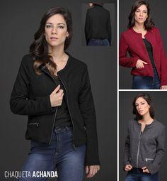 La Chaqueta Achanda, de matelassé, es un comodín perfecto para tus looks invernales. Su diseño con cierres metálicos y cuello mao completa tus looks con mucha personalidad.