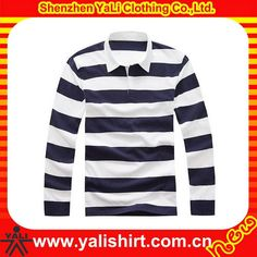 Wholesale striped polo collar rugby jerseys custom rugby uniform for men #rugby_clothing, #Stripes