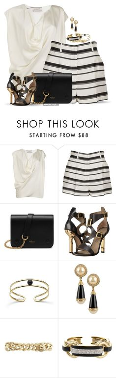 """""""Summer Shorts"""" by houston555-396 ❤ liked on Polyvore featuring Lanvin, Dolce&Gabbana, Mulberry, Versace, Marc by Marc Jacobs and David Webb"""