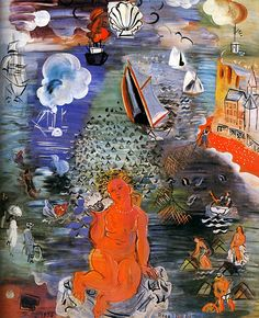 Brilliant piece by artist and designer Raoul Dufy whose work never ceases to surprise and amaze me - Amphitrite, 1936.