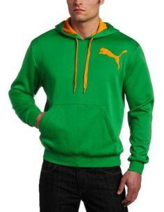PUMA Men's Polyester Fleece Pullover Hoodie