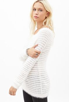 Eyelash Knit Ribbed Sweater | Forever 21 - 2000066793