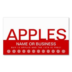 bold apples customer loyalty card double sided standard business cards pack of 100