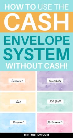 How to use the cash envelope system without cash. The cashless envelope method can be a great way to budget your money and prevent overspending. Track your spending and save money with the cashless envelope system. Free cashless envelope printables. Budget binder.