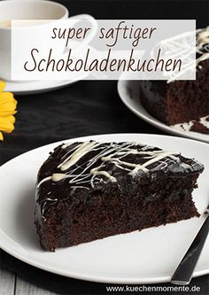 (Advertising) This is how a chocolate cake must be! Not too cute, (Werbung) So muss ein Schokoladenkuchen sein! Nicht zu süß, aber saftig und le… (Advertising) This is how a chocolate cake must be! Not too sweet, but juicy and tasty – to - Chocolate Cake Recipe Easy, Homemade Chocolate, Chocolate Recipes, Cake Chocolate, Easy Cake Recipes, Cookie Recipes, Dessert Recipes, Food Cakes, Torte Au Chocolat