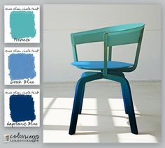 Colorways with Leslie Stocker » Get a modern look with chalk paint by painting an ombre color finish