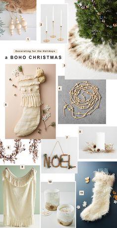 How to Decorate Your Home for a Boho Christmas // Scandinavian cozy interior Bohemian Christmas, Cozy Christmas, Modern Christmas, Scandinavian Christmas, Christmas Holidays, Christmas Wreaths, Christmas Crafts, Christmas Vacation, Christmas Movies