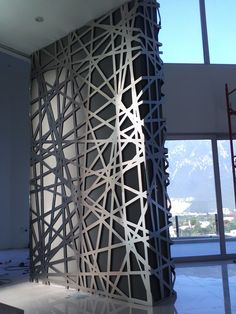 Lagos del Vergel Aluminum Lattice, Monterrey Mexico, By Relieves: Laser Cut Panels, Metal Panels, Interior Walls, Interior Design, Design Interiors, Decorative Screens, Decorative Metal, Metal Screen, Aluminum Screen