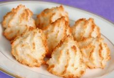 """These macaroons, the quintessential Passover confection, are called """"forgotten"""" because you leave them in the oven overnight. They cook in the retained heat. You can dip them in high-quality melted dark chocolate if you like. Coconut Meringue Cookies Recipe, Coconut Macaroons, Egg White Recipes, Sweet & Easy, Passover Recipes, Passover Meal, Passover Desserts, Recipe Details, Cookie Recipes"""