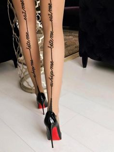Like the line up the back of stockings wasn't already too alluring!