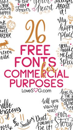 26 Free Fonts for Commercial Use - Fonts - Ideas of Fonts - 26 Free Fonts for Commercial Use
