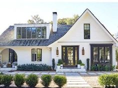 design exterior images 10 of the Most Popular Home Styles white modern house with curved patio archway Types Of Houses Styles, Different House Styles, Types Of Homes, Home Exterior Makeover, Exterior Remodel, House Paint Exterior, Dream House Exterior, Exterior Design Of House, Facade Design