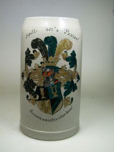 Studentika. Schwarze Verbindung Apollo München (RVSV). Bierkrug. 1 L. 1907   eBay