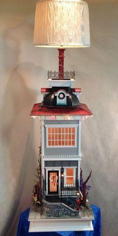 "Miniature 1:12 Dollhouse Base Table Lamp ""Eloise"" by jimlarsondesigns.com https://www.etsy.com/shop/JimLarsonDesigns"