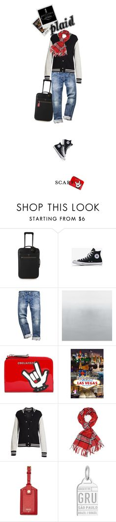 """""""Plaid Scarf, Chuck's, & Vegas Baby!"""" by idocoffee ❤ liked on Polyvore featuring Mark Cross, Dsquared2, Marc Jacobs, Achillea, FOSSIL and Jet Set Candy"""