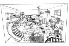 滑り台のある部屋 Floor Plans, Diagram, Floor Plan Drawing, House Floor Plans