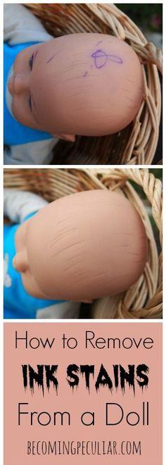 Как удалить следы шариковой ручки, пятна от куклы (используя секретный ингредиент!)