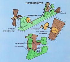 071 whirligig wind vanes - woodchopper diagram: