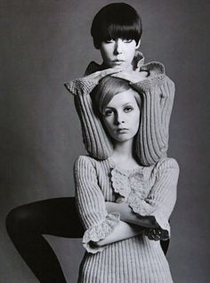 Peggy Moffitt & Twiggy. It's Miss Brittany's birthday today, the creator of Fuck Yeah 60's Fashion. You should make your way to her page and give her a groovy birthday wish!