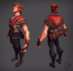 Had great time designing this character – the Archer ! I worked on it from design to final in-game model. It is for an upcoming game I have the pleasure to work on. Can't wait to give this guy a bow and watch him run, jump and do some action … Character Modeling, Character Creation, Game Character, Character Concept, Character Designer, Modelos 3d, Game Concept Art, Art Portfolio, Creature Design