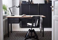 Kullaberg desk pine black office ideas pinterest desks pine
