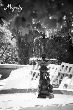 Nothing like a little babbling water from the fountain on the Castle Terrace at Glen Eyrie! Photo Credit: Majesty Photo