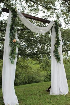 Beautiful handmade arbors for wedding Etsy ctions in the garden or backyard areaIts important to get the most from your space as well as the most from your money and thi. Small Garden Arbour, Garden Gazebo, Modern Gazebo, Persian Garden, Building A Pergola, Pergola Designs, Garden Wedding, Forest Wedding, Backyard