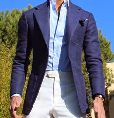 Absolute Bespoke — Winter vintage blue Jacket by Absolute Bespoke. Blazer Outfits, Nike Outfits, Mens Fashion Suits, Mens Suits, Classic Men, Leather Men, Leather Jacket, Herren Outfit, Stylish Mens Outfits