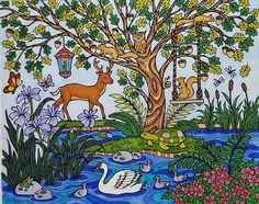ColorIt Blissful Scenes Colorist: Vanessa Black #adultcoloring #coloringforadults #adultcoloringpages #scenes