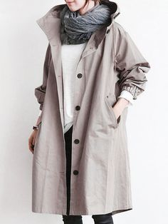 Fashion Hooded Trench Coats