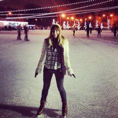 Gone skatin.  (at Steinberg Skating Rink) Skating Fashion @VanillaInVogue