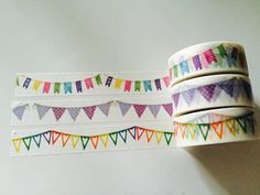 Banner Washi Tape in 3 Patterns by GoatGirlMH on Etsy