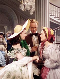 ♥ Old Hollywood ♥ Gone with the Wind, Vivien Leigh, Leslie Howard, Olivia de Havilland